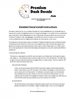 Decal Kit Installation Guide