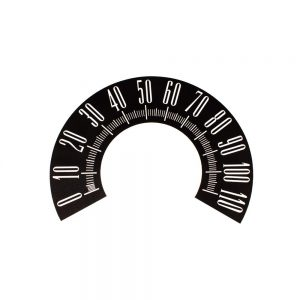 60 Plymouth Valiant Speedometer Face 110MPH -Black