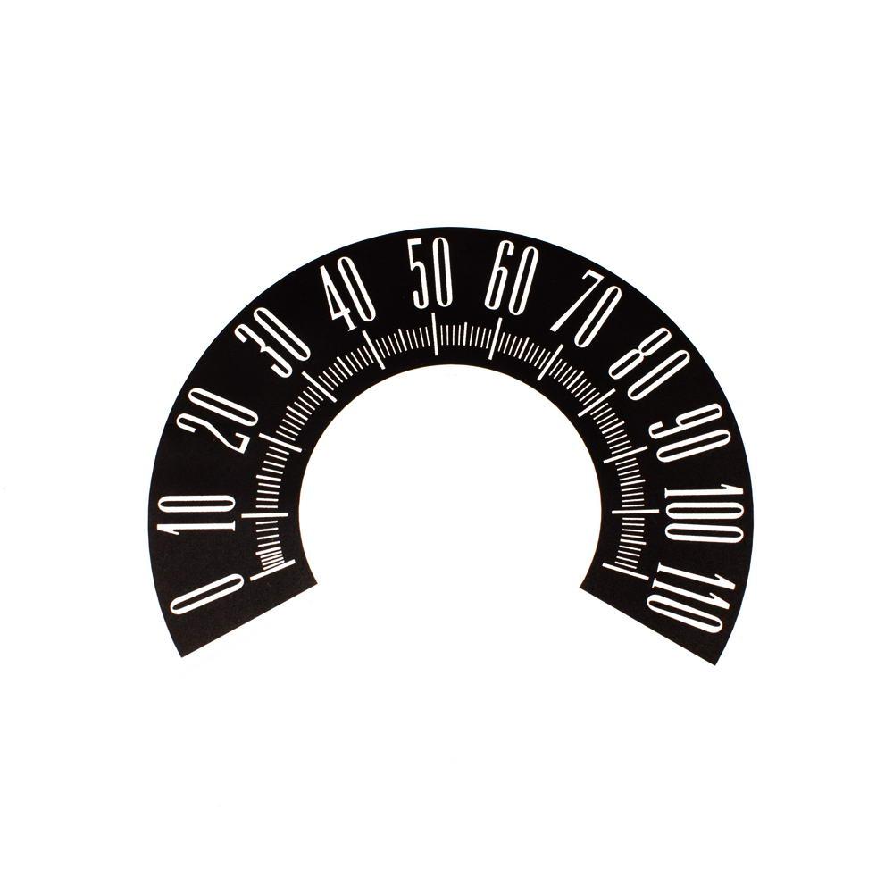 60 Plymouth Valiant Speedometer Face 110mph Black