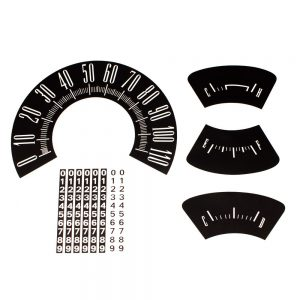 60 Plymouth Valiant Dash Decal Kit 110 MPH -Black