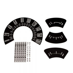 60 Plymouth Valiant Dash Decal Kit 180 KPH -Black