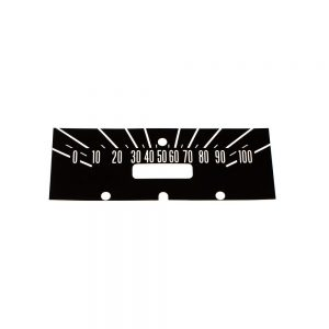 61 - 64 Dodge Truck Dash Decal Kit 100 MPH -BLACK