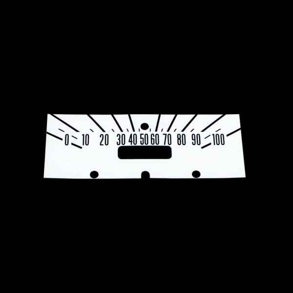 61 - 64 Dodge Truck Dash Decal Kit 100 MPH -WHITE