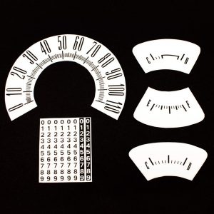 61 Plymouth Valiant Dash Decal Kit 110 MPH -White