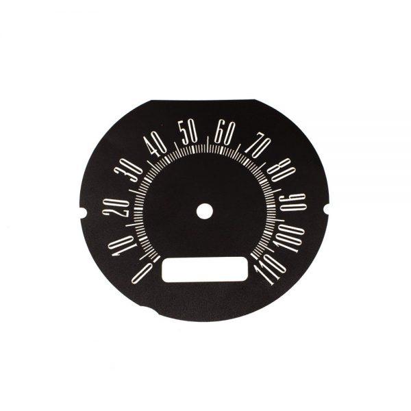 62 Dodge Lancer Speedometer Face 110MPH -Black