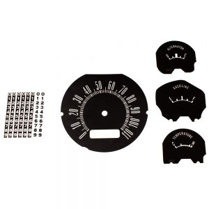 62 Dodge Lancer Dash Decal Kit 110 MPH -Black