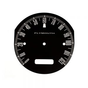 62 Plymouth Fury Savoy / Sport Fury Speedometer 120 MPH Face