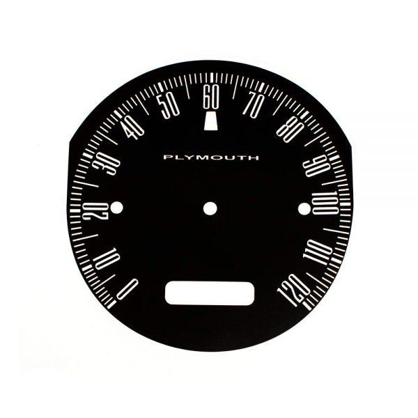 62 Plymouth Fury Savoy / Sport Fury Speedometer 120 MPH Face