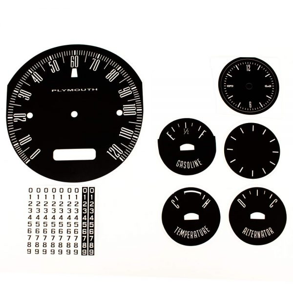 62 Plymouth Fury Savoy / Sport Fury Decal Kit with heater control face