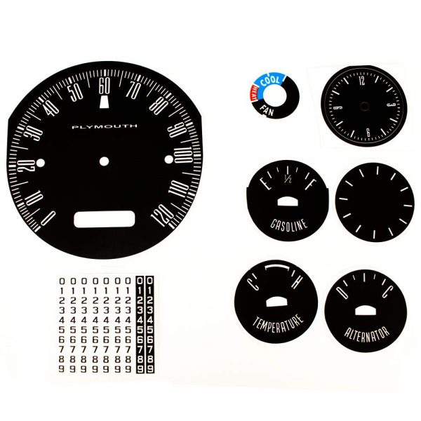 62 Plymouth Fury Savoy / Sport Fury Decal Kit with AC control face