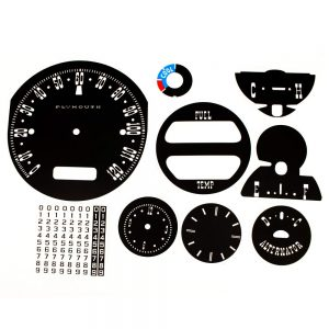 63 Plymouth Fury Savoy / Sport Fury Decal Kit with AC control face