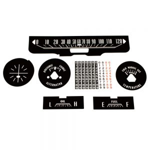 64 Dodge Coronet Polara Decal Kit with Clock Delete
