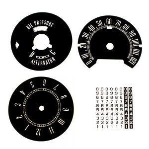 64  Plymouth Fury Decal Kit with Clock