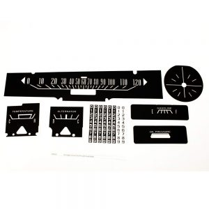 65 Dodge Coronet Decal Kit with Clock Delete