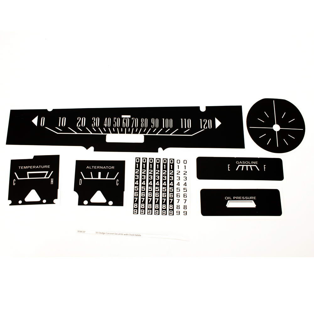 65 Dodge Coronet Decal Kit With Clock Delete Premium
