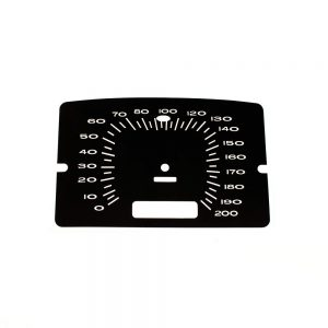 65 Plymouth Belvedere Speedometer 200 KPH Face