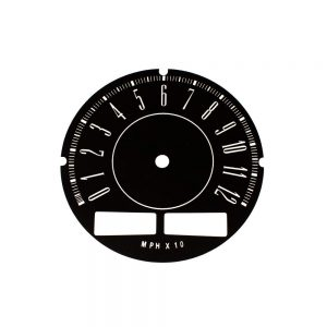 67 - 71 A Body Rallye Speedometer Face 120MPH with trip odo