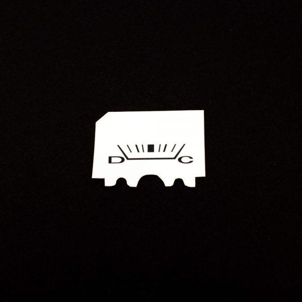 68 - 76 Plymouth Valiant WHITE Standard Alternator Gauge Face