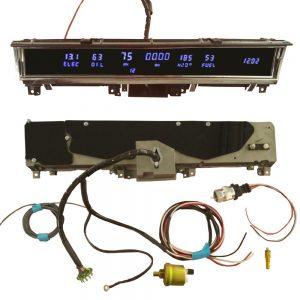 68 - 70 B Body Non Rallye Digital Dash Complete Instrument Cluster - Blue