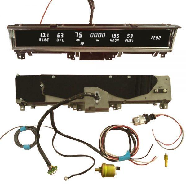 68 - 70 B Body Non Rallye Digital Dash Complete Instrument Cluster - White