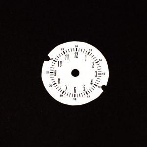 67 - 71 A Body WHITE Rallye Clock Face
