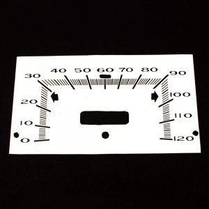 68 - 76 Plymouth Valiant WHITE Standard Speedometer Face 120MPH