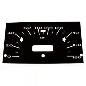 68 - 76 Plymouth Valiant Standard Speedometer Face 180 KPH - Metric