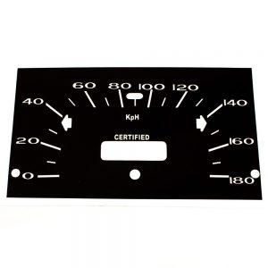 68 - 76 Plymouth Valiant Standard Speedometer Face 180 KPH CERTIFIED -Metric Police