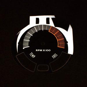 70 Javelin AMX Tachometer Face 0-8000 RPM