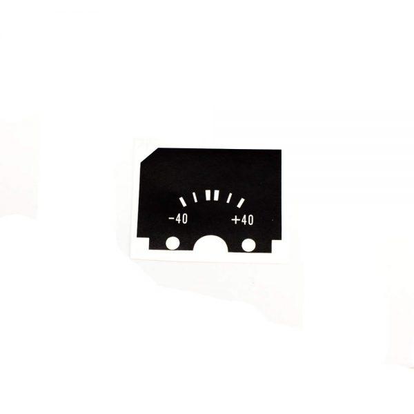 68 - 76 Plymouth Valiant Standard Alternator Gauge Face
