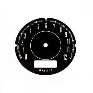 67 - 71 A Body Rallye Speedometer Face 120MPH no trip odo