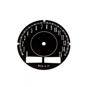 67 - 71 A Body Rallye Speedometer Face 150MPH with trip odo