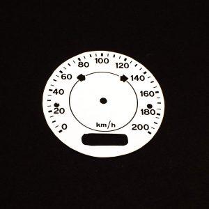 70 Challanger T/A WHITE Standard Speedometer Face 200 KPH